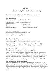 Protokoll Generalforsamling 2011 - Samfunnsøkonomene
