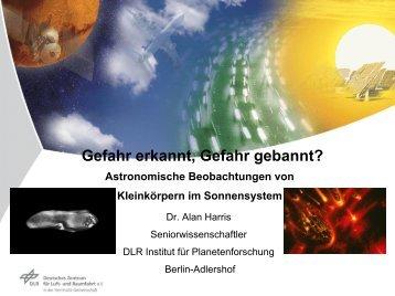 Astronomische Beobachtung von Kleinkörpern - RZ User