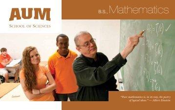 B.S., Mathematics - School of Sciences