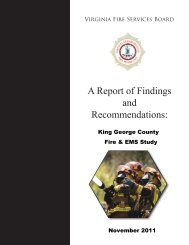 A Report of Findings and Recommendations: - Virginia Department ...