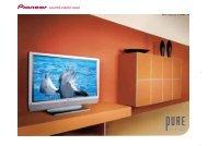 Pioneer Pure Vision Plasma TV - Pioneer Europe
