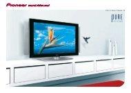 Pioneer Pure Vision Plasma TVs - Pioneer Europe