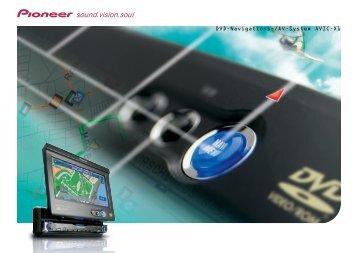 DVD-Navigations-/AV-System AVIC-X1 - Pioneer Europe