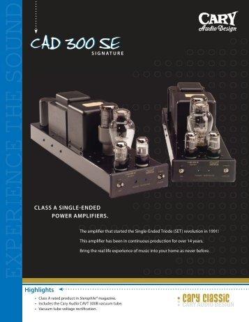 CAD 300SE.indd - Cary Audio Design