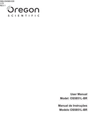 OS5851L-BR Manual de Instruções Modelo ... - Oregon Scientific