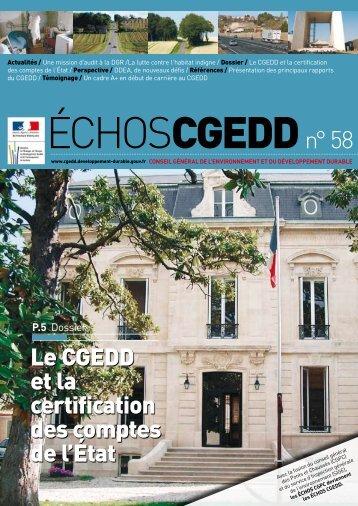 Les ÉchosCGEDD n°58 - août 2008