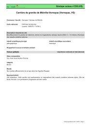 Carrière de granite de Miéville-Vernayaz (Vernayaz, VS) - admin.ch