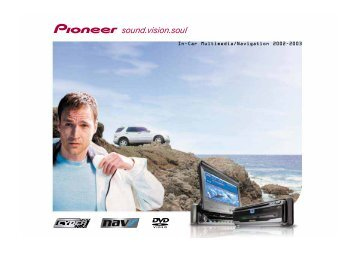 Pioneer In-Car Multimedia/Navigation - Pioneer Europe