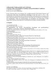 Ablauf AM 2a Teil I Wirtschaftliche Grundlagen und gesellschaftliche ...