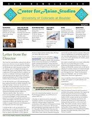 CAS Newsletter final, 3-20 - the Center for Asian Studies - University ...