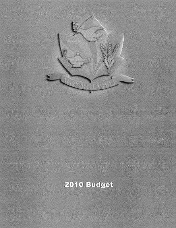 2010 Municipal Budget - Monroeville