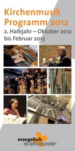 Kirchenmusik Programm 2012 - Evangelische Klarenbach ...