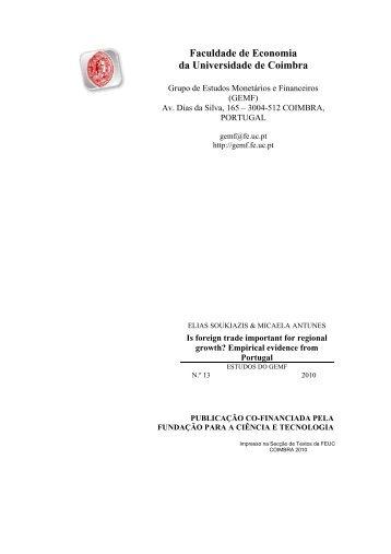 Faculdade de Economia da Universidade de Coimbra - GEMF ...