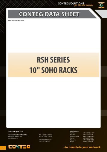 "RSH SERIES 10"" SOHO RACKS - Conteg"