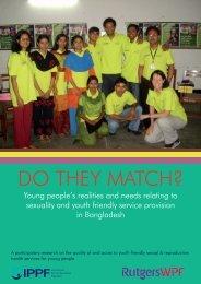 Do They Match Report Bangladesh - World Population Foundation