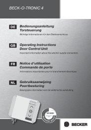 BECK-O-TRONIC 4 - Becker Antriebe GmbH