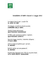RASSEGNA STAMPA Venerdì 11 maggio 2012 Un ... - SDS Snabi