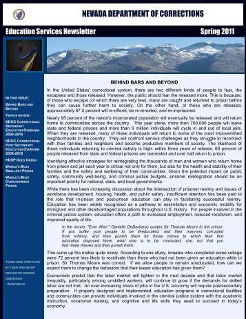 Education Services Newsletter Spring 2011 - Nevada Department of ...