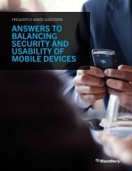 Answers to BAlAncing security And usABility of ... - wireless & mobile