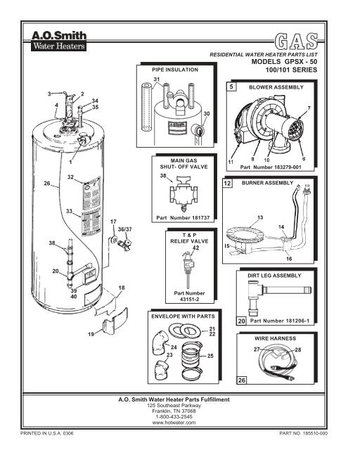 Parts For Ao Smith Water Heater Best Water Heater