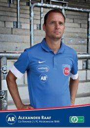 Download Autogrammkarte von Alexander Raaf - 1. FC Heidenheim