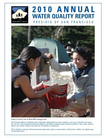 Water Quality Report - 2010 - Presidio Trust