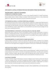 programmi per le scuole secondarie - Castello Sforzesco