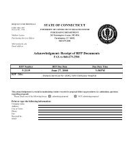 Acknowledgment: Receipt of RFP Documents - Connecticut ...