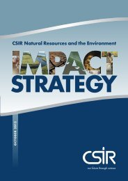 Growth and Impact Strategy 2012 - CSIR