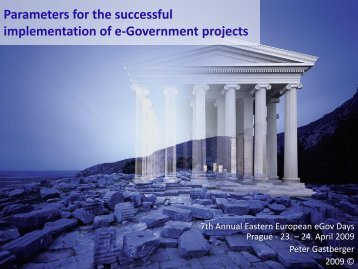 Parameters for the successful implementation of e ... - EPMA