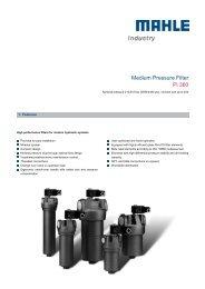 Medium Pressure Filter Pi 360 - MAHLE Industry - Filtration