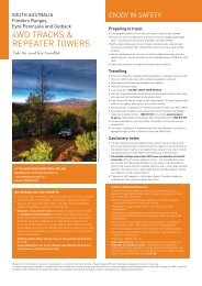 4WD Tracks & Repeater Towers brochure - South Australia