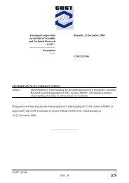 Memorandum of Understanding - The Chemical Cosmos