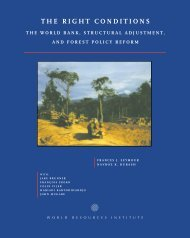 The World Bank, Structural Adjustment, and Forest Policy Reform