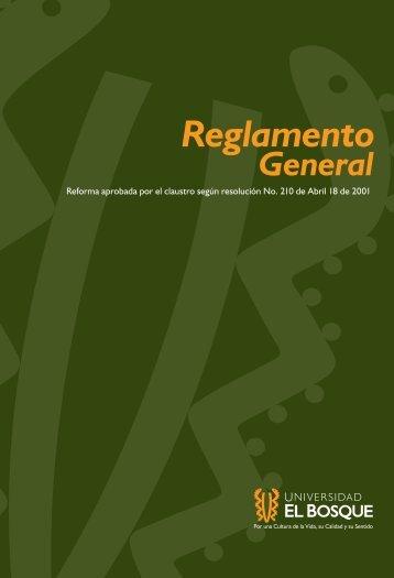 Reglamento General - Universidad El Bosque