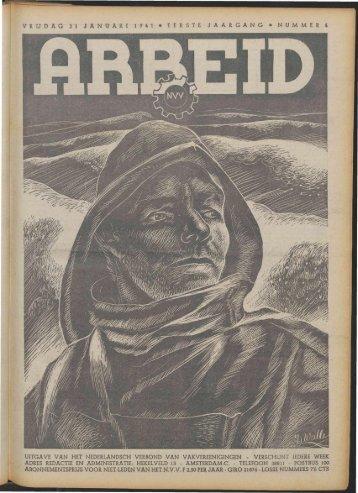 Arbeid (1941) nr. 4 - Vakbeweging in de oorlog