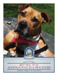 BeSt PrActiceS: AdoPtion PolicieS & ProcedureS - Animal Farm ...