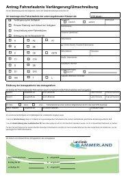 Klassen C oder D-Antrag Verlängerung/Umscheibung - KDO-KIM