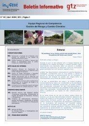 Boletín Informativo N°3 - Abril 2008 - pdf - Gestión del Riesgo y ...