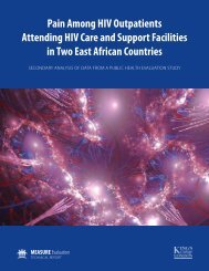 Pain Among HIV Outpatients Attending HIV Care and Support ...