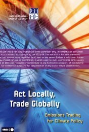 Act Locally, Trade Globally - International Energy Agency