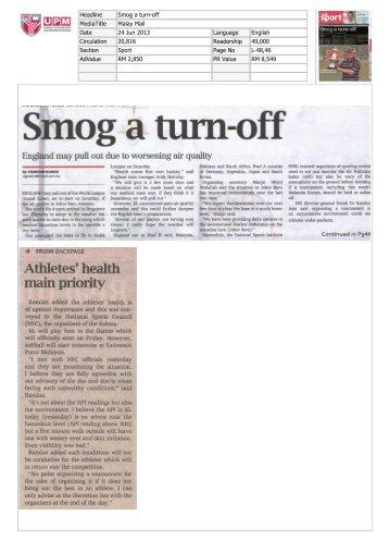 Smog a turnoff - Universiti Putra Malaysia