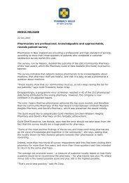 Nielsen customer survey results - Pharmacy Guild of New Zealand