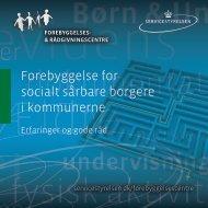 Forebyggelse for socialt sårbare borgere i ... - Socialstyrelsen