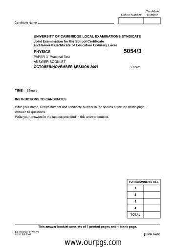 Physics-P3(answer booklet)-O.N-01.pdf - Ourpgs.com