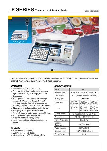 LP SERIES Thermal Label Printing Scale - KODA