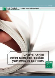 does faster growth translate into higher returns? - BNP Paribas ...