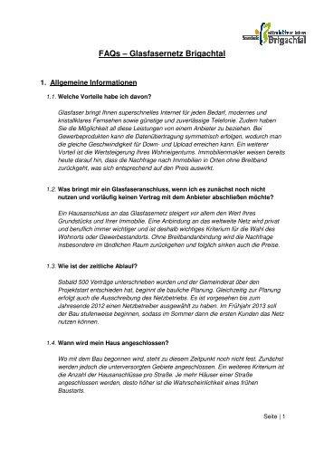 FAQs – Glasfasernetz Brigachtal - Gemeinde Brigachtal