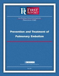Prevention and Treatment of Pulmonary Embolism
