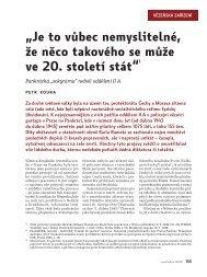 Paměť a dějiny 1/2008, Vězeňská zařízení, s.155-161, Petr Koura ...